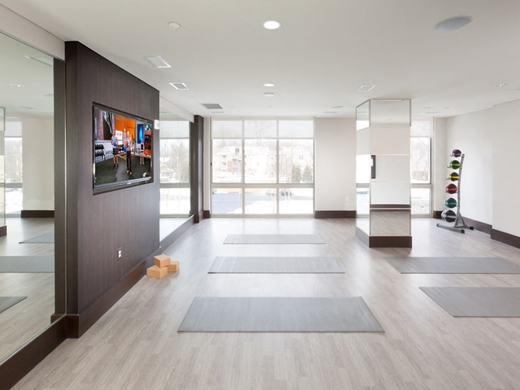 Yoga and Pilates Room at Harrison at Reston Town Center, Reston, VA, 20190