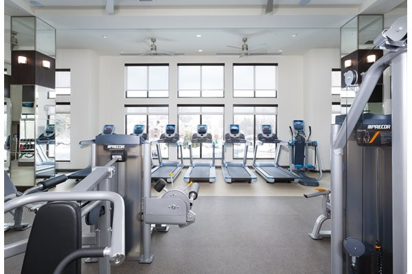 State of the art fitness center at Harrison at Reston Town Center, Reston, VA, 20190