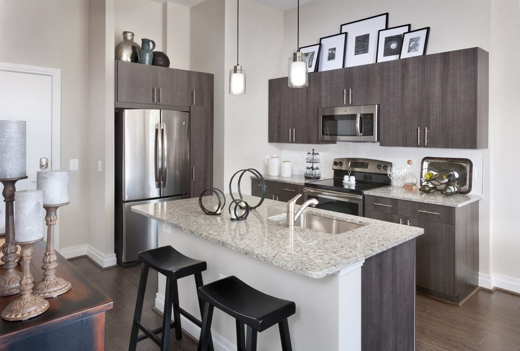 Kitchen Island and Luxurious Finishes at Harrison at Reston Town Center, Reston, VA, 20190