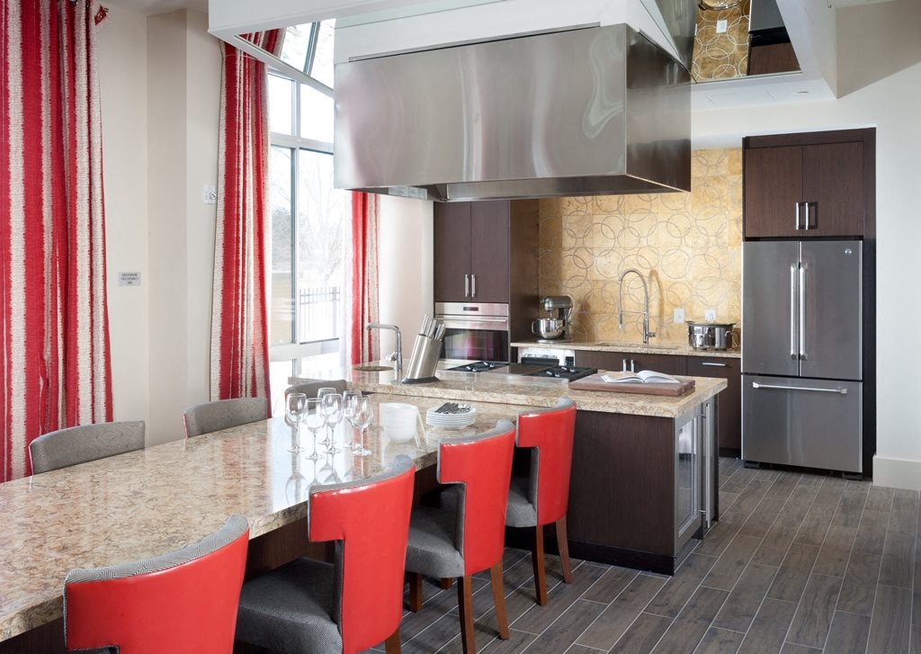 Demonstration Kitchen at Harrison at Reston Town Center, Reston, VA, 20190