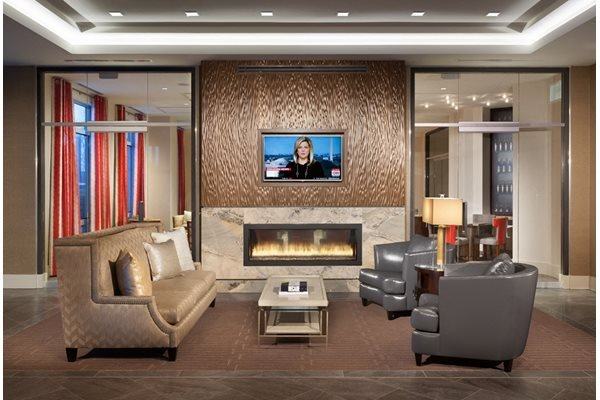 Relaxing Residents Lounge at Harrison at Reston Town Center, Reston, VA, 20190