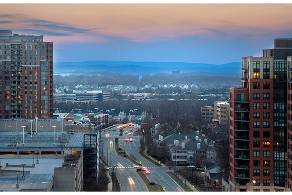 Beautiful View from Sundeck at Harrison at Reston Town Center, Reston, VA, 20190