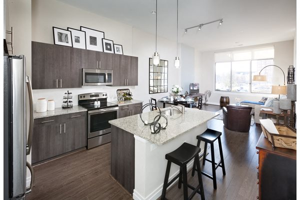 Fully equipped kitchen at Harrison at Reston Town Center, Reston, VA, 20190