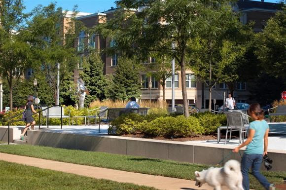 Bark park and Walking Trails at Harrison at Reston Town Center, Reston, VA, 20190