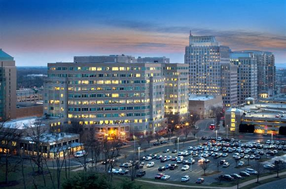 West View at Dusk at Harrison at Reston Town Center, Reston, VA, 20190