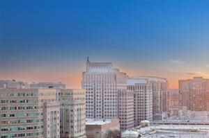 Sunset and Skyline views at Harrison at Reston Town Center, Reston, VA, 20190