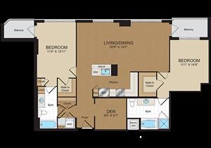 Floorplan at Harrison at Reston Town Center, Reston, VA, 20190