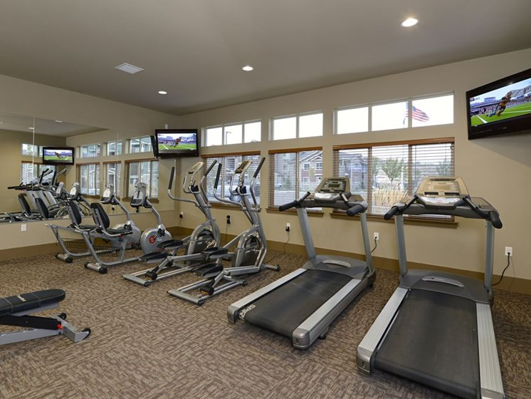 Gym with cardio equipment Apts in Colorado Springs, CO | Copper Creek