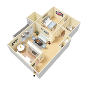 Wheeler Floor Plan at Clarion Crossing Apartments in West Raleigh NC