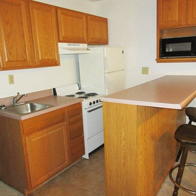 Student Kitchen in State College, PA | Foster Arms | Property Management, Inc.
