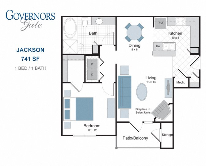 Governors Gate Apartments | One, Two and Three Bedroom