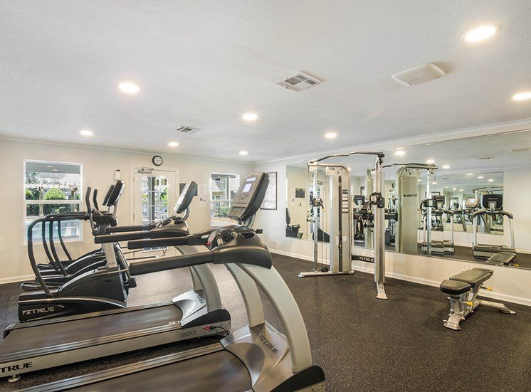Woodcliff apartments fitness center in Pensacola, Florida