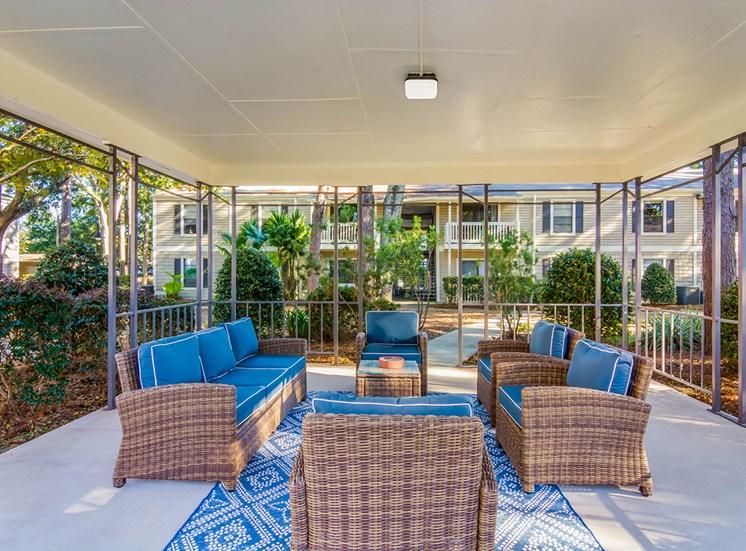 Woodcliff apartments gazebo in Pensacola, Florida