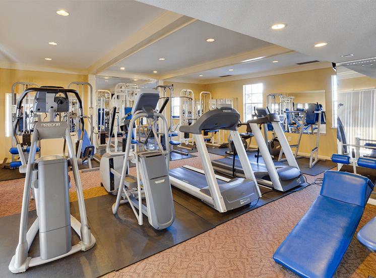 Jamestown Estates apartments fitness center in Pensacola, Florida