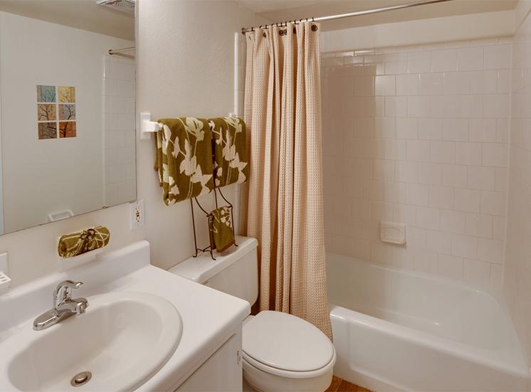 Jamestown Estates model suite bathroom in Pensacola, Florida