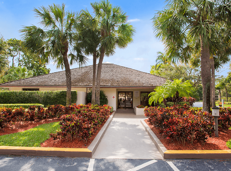 Village Crossing apartments leasing center in West Palm Beach, Florida