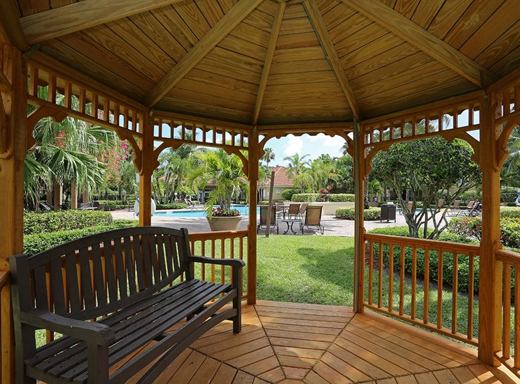 Woodbine apartments gazebo in Riviera Beach, Florida