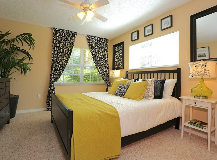 Woodbine apartment model suite bedroom in Riviera Beach, Florida