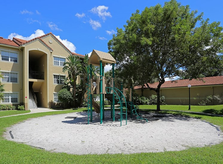 Woodbine apartments playground in Riviera Beach, Florida