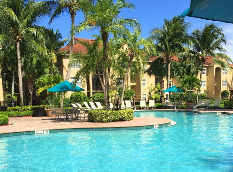Woodbine apartments swimming pool in Riviera Beach, Florida