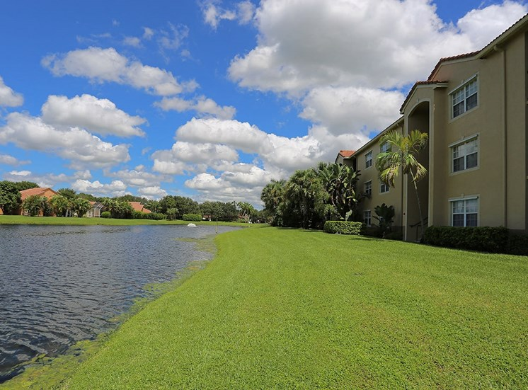 Woodbine apartments waterfront view in Riviera Beach, Florida
