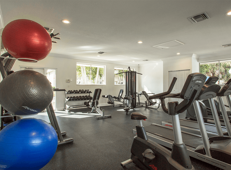 Blue Isle apartments fitness center in Coconut Creek, Florida