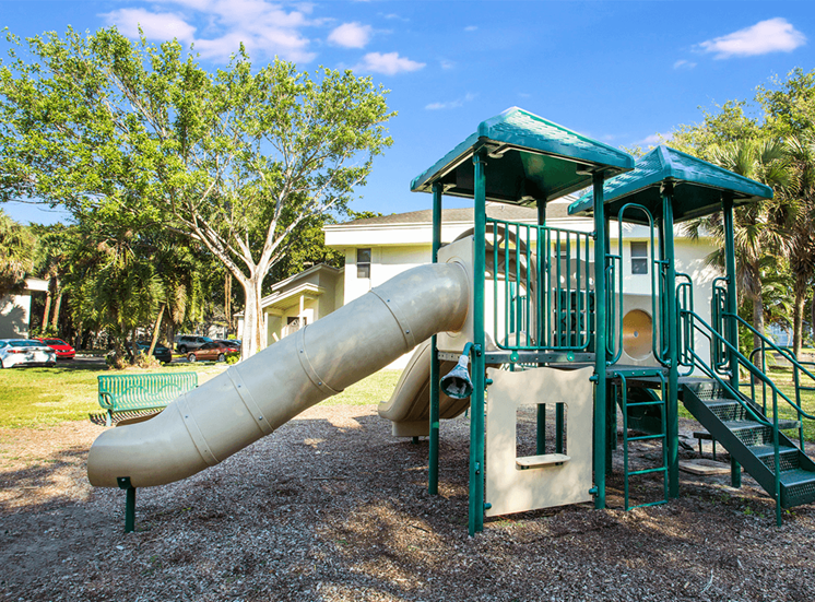 Blue Isle apartments playground in Coconut Creek, Florida