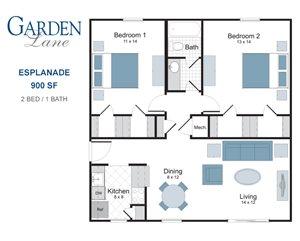 Esplanade two bedroom apartment for rent