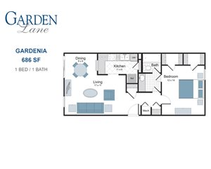 Gardenia one bedroom apartment for rent