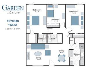 Poydras three bedroom apartment for rent