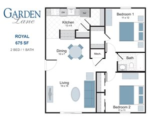 Royal two bedroom apartment for rent
