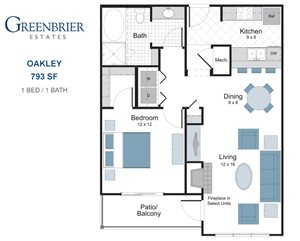 Oakley one bedroom apartment for rent