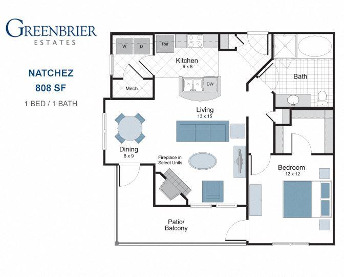 Natchez one bedroom apartment for rent