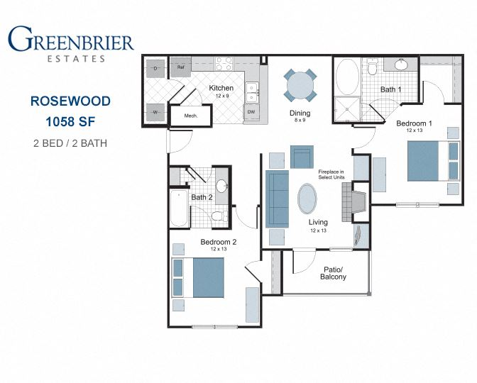 Rosewood two bedroom apartment for rent