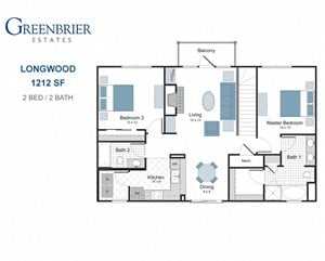 Longwood two bedroom apartment for rent