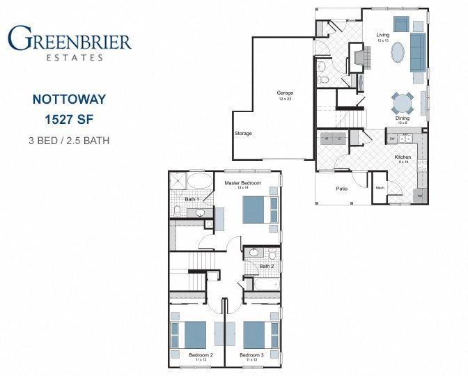 Nottoway three bedroom town home for rent