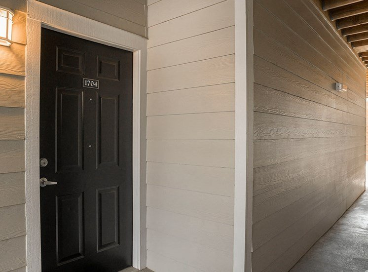 Greenbrier Estates apartment residence front door in Slidell, Louisiana