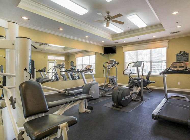 Greenbrier Estates apartments fitness center in Slidell, Louisiana