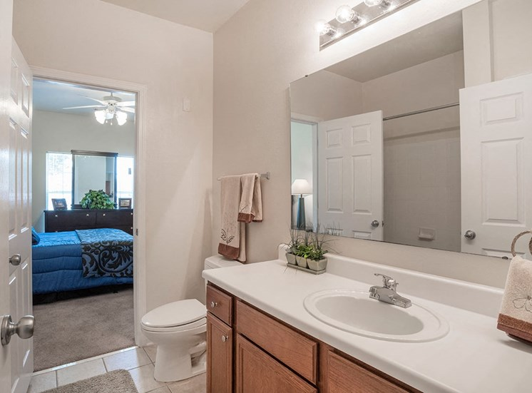 Greenbrier Estates model suite bathroom in Slidell, Louisiana