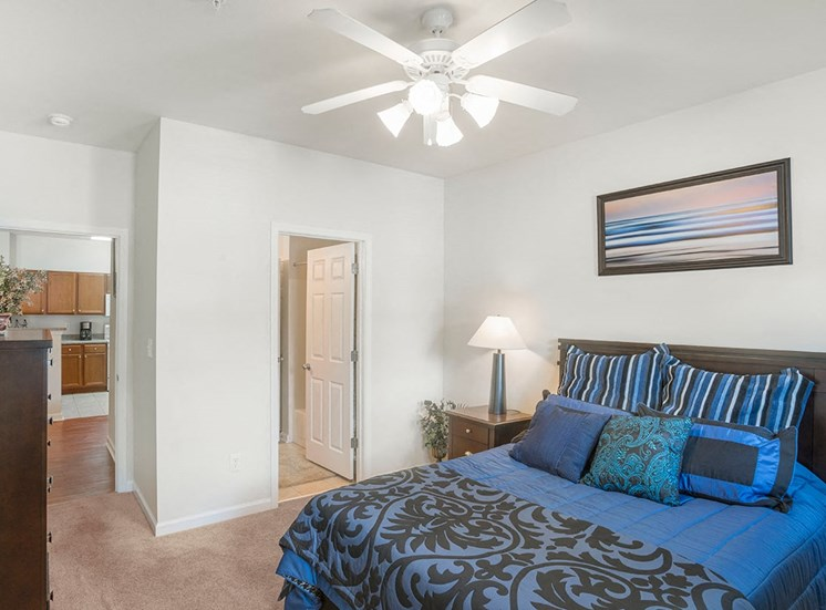 Greenbrier Estates model suite bedroom in Slidell, Louisiana