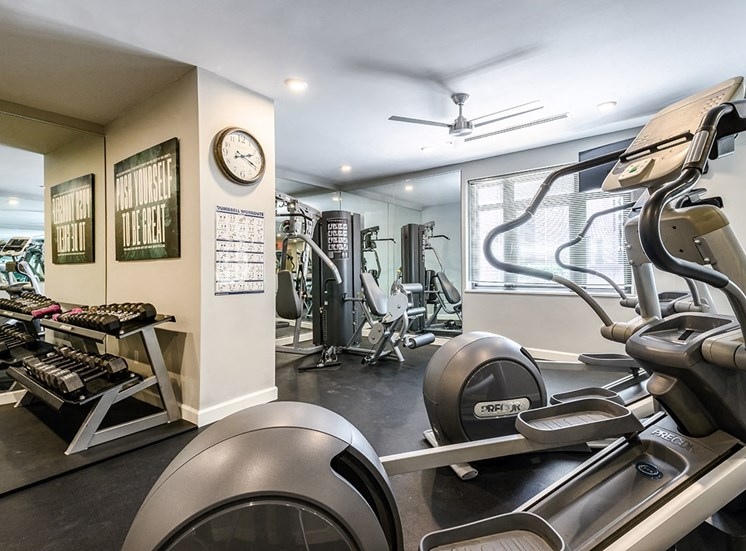 Professional fitness center at The Georgian in New Orleans