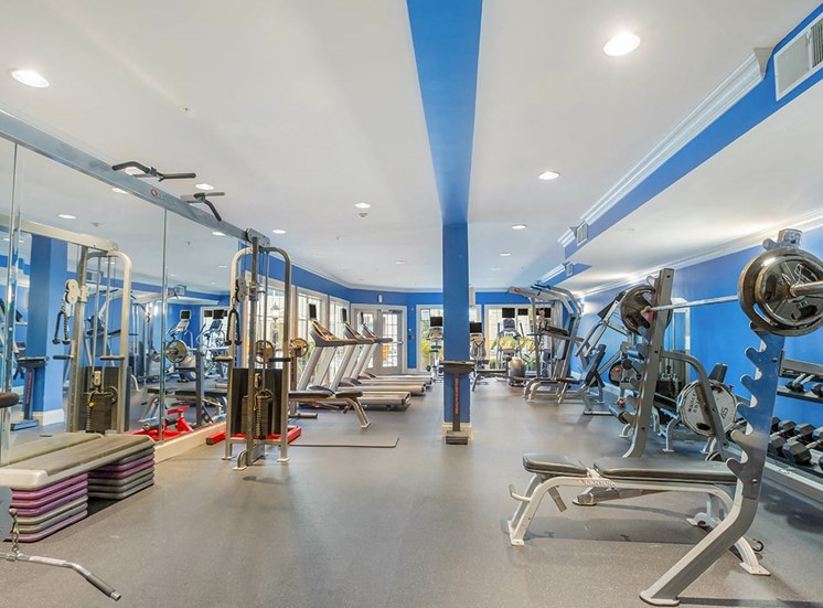 The Savoy in Atlanta features a large resident fitness center
