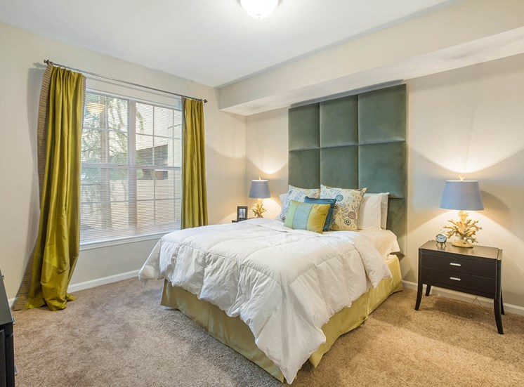 Comfortable bedrooms at The Savoy apartments in Atlanta