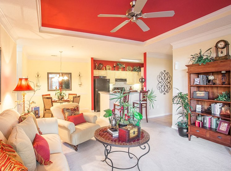 Barrett Walk model suite living area in Kennesaw, GA