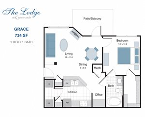 Grace one bedroom apartment for rent