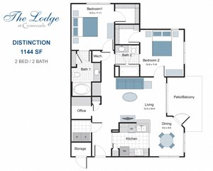 Distinction two bedroom apartment for rent