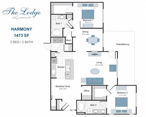 Harmony two bedroom apartment for rent