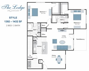 Style two bedroom apartment for rent