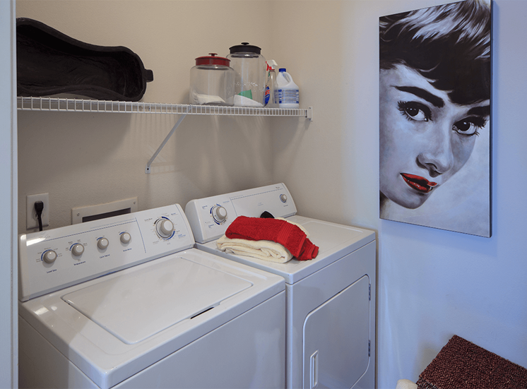 The Lodge at Crossroads model suite utility room in Cary, North Carolina