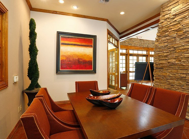 The Lodge at Crossroads apartments conference room in Cary, North Carolina
